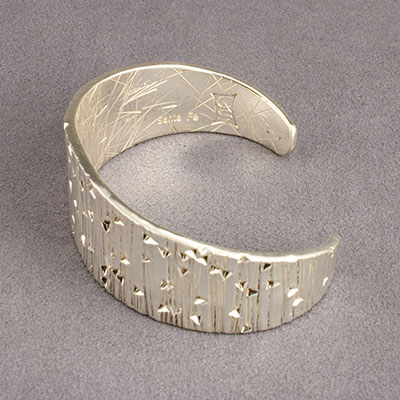 Cody Sanderson Forged and Stamped Fine Silver Cuff Bracelet