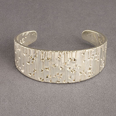 Cody Sanderson Fine Navajo Silver Forged and Stamped Cuff Bracelet