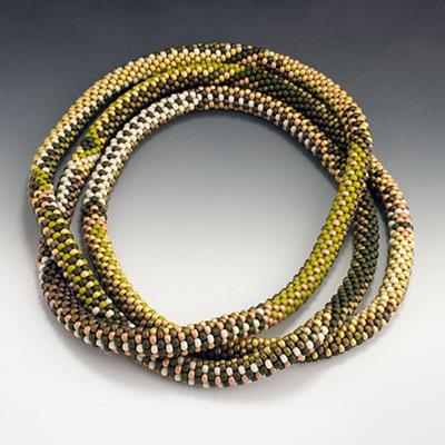 Het Westen Miyuki And Toho Glass Bead Crochet Rope Necklace By