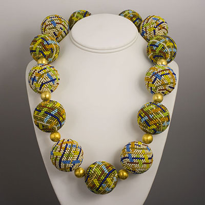 Het Westen Miyuki And Toho Glass Beaded Bead Necklace By