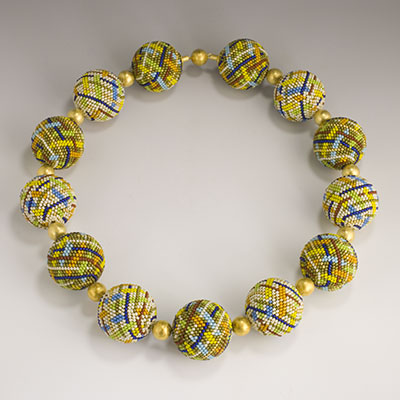 Beaded Bead Necklace by Felhandler Steeneken